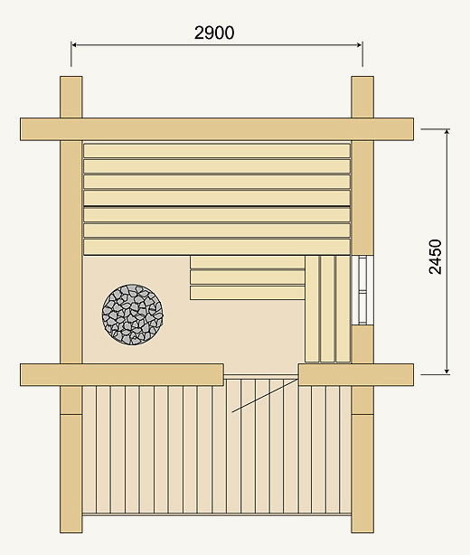 Outdoor sauna Kelo