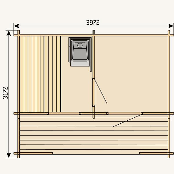 Outdoor sauna Keitele
