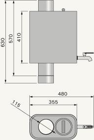 Pipe model water heater