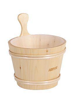 7L Harvia Wooden Bucket