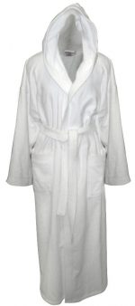 Bathrobe with Hood made of Cotton Velour Small-Medium