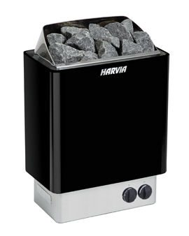 Electric Sauna Heater Harvia KIP80-B1 Black Built-in Controls