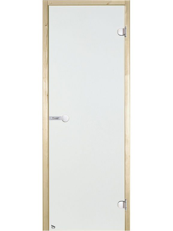 Glass doors with aluminium frame for steam sauna