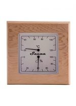 Sawo Combo Hygrometer and Thermometer Cedar