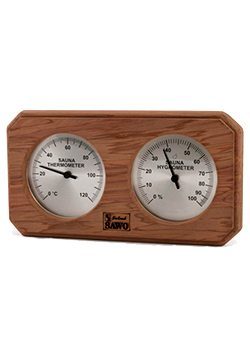 Sawo Combo Hygrometer and Thermometer Cedar-2-50-95