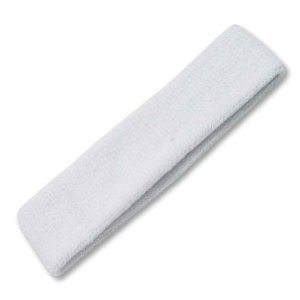 White Elastic Terry Spa Headband
