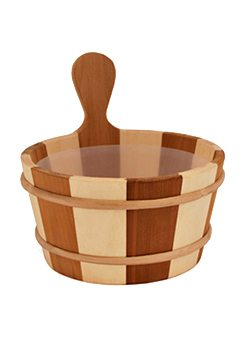 Wooden Pail with 4L Plastic Insert Stripe